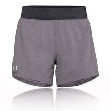 Under Armour Mujer Launch SW 5 Inch Pantalones Cortos Gris Deporte