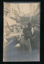 Egypt CAIRO animated street level scen c1900/20s photograph