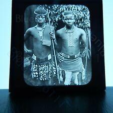 Colonial south africa Zulu men GWW magic lantern