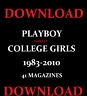 PLAYBOY COLLEGE GIRLS MAGAZINE 1983-2010 LARGE DOWNLOAD