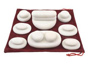 MassageMaster COLD STONE MASSAGE SET: 18 Marble Stones
