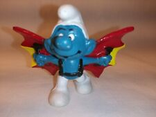 Vintage Smurf Hang gliding flying wings extreme sports jumping cliff Peyo 1978