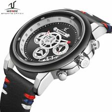 New WEIDE Euro Designer Fashion Sports Quartz Chronograph Colorful Men's Watch