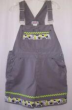 Ladies womens Custom boutique short overalls size M