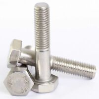 M6 / 6mm A2 Stainless Steel Hex Head Part Threaded Bolts Hexagon Screws DIN 931