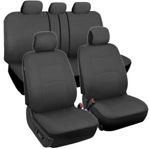 Car Seat Covers Sports Design Poly Pro Seat Protection Split Bench All Dark Gray
