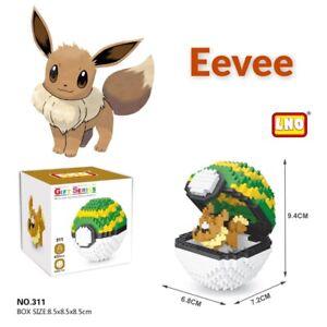 Nintendo Pokemon Eevee Pokeball 450pcs Nano Blocks