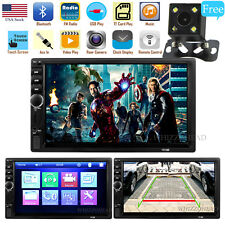 7 inch Double 2DIN Car MP5 Player Bluetooth Touch Screen Stereo Radio USB AUX US