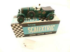 Scalextric N° MM/C64 Bentley N04 #20 1/32 Slot Car Vintage Car Racing IN Box