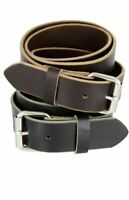 """1 1/2"""" men,s classic jean leather belt hand made"""