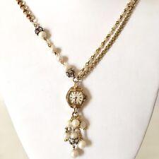 Victorian Wedding Necklace Watch Pendant Vintage Gold Tone Steampunk Handmade 5