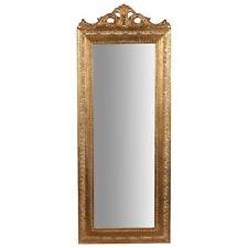Specchio Specchiera cornice barocco foglia oro resina parete 35 x 90 cm