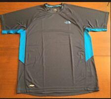 Men's North Face Running Hiking Yoga Athletic T-Shirt Size Medium Blue Euc!