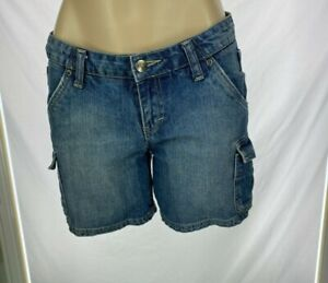 Rusty Distressed Denim Cargo Shorts Size 10