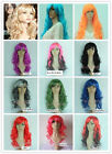 Men Women Kids Wigs Cosplay Party Performance Wig Long Full Head Curly Wavy Wig