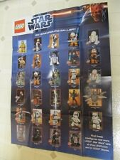 NEW 2012 STAR WARS Lego 2-SIDE POSTER tie fighter XWing star mini-figs 24x36