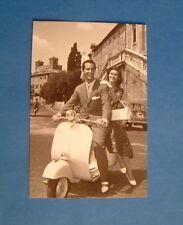 LAMBRETTA VESPA POST CARD DOMINGUIN & L BOSE  ITALIAN CARD 15 YEARS OLD