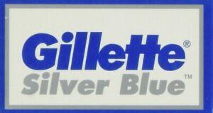 Gillette Silver Blue Double Edge Razor Blades | 10/15/20/25 Blades  Irish Seller