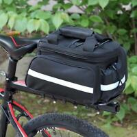 Bicycle Rear Seat Bag Bike Carrier Rack Seat Trunk Bag with Rain Cover