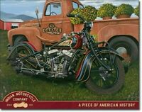 Jacobs Indian Motorcycle Metal Tin Ad Sign Poster Wall Picture Decor Retro Gift
