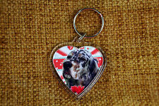 English Setter Gift Keyring Dog Key Ring heart Birthday Gift Mothers Day Gift
