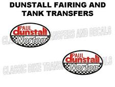 DUNSTALL NORTON TRANSFERS DECALS SOLD AS A PAIR WHITE BACKGROUND
