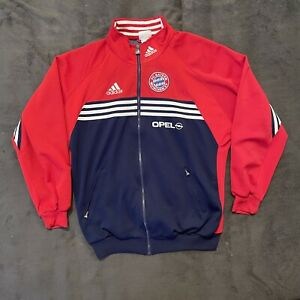FC Bayern Adidas Retro Vintage Jacke mit Sponsoren 1998 Opel