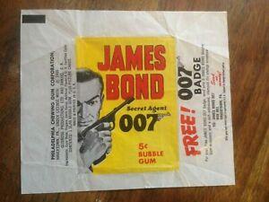 James Bond 1966 Bubble Gum Wrapper. Philadelphia Gum. Original