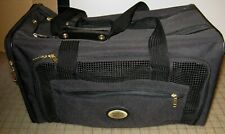 """American Tourister 18"""" x 10"""" x 9"""" Soft Black Cat (or small Dog) Carrier Vg+ Cond"""