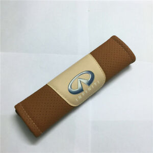 2Pcs Brown Color High Quality Car Seat Belt Shoulder Cushion Cover Pad
