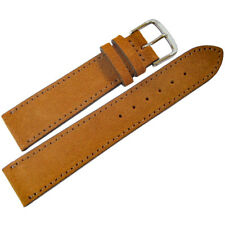 20mm Mens Fluco Saddle Brown Suede Leather German Made Watch Band Strap