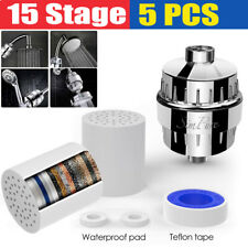 Shower Head Filter Cartridge Kit 15 Stage Chlorine Hard Water Softener Purifier