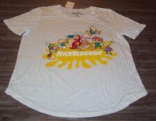 WOMEN'S TEEN  NICKELODEON REN & STIMPY INVADER ZIM RUGRATS T-shirt MEDIUM NEW
