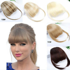Hair Clip Front False Women Hairpiece In Bang High Temperature Synthetic Fringe