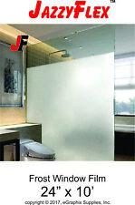 """JazzyFlex - Frost Window Film - Self-Adhesive, 24"""" x 10'"""