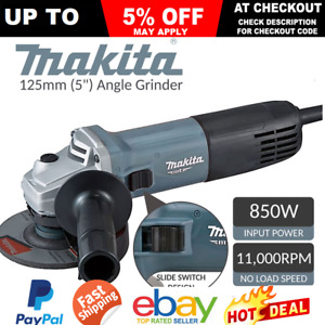 """Makita Angle Grinder 125mm 5"""" Corded Grinding Power Tool Construction Lightweigh"""