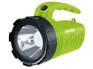 Draper Handheld Rechargeable Torch LED Spotlight, Camping Hiking Fishing Green