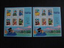 Collection timbres Français - TINTIN - 2 Blocs feuillet de 6 timbres neufs