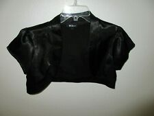 Top💖BCX Dress-Black-Shrug-Bolero Jacket-Cover-Size L  #C99