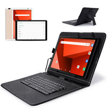 "10"" INCH Android 9.0 Tablet PC 1+16GB ROM Quad Core WiFi+3G 2 Cam with Keyboard"