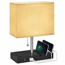 USB Bedside Lamp With Phone Stands,Hansang Table Lamp Dual Charging Ports,Nights