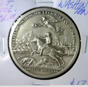 1776 AMERICAN REVOLUTION WAR w Battle Pic COLONEL William Washington BU Coin NR