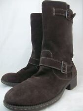 Bass Naples Womens US 10 M Brown suede Mid Calf Pull On Buckle Winter Boots