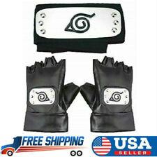Naruto Headband Leaf Village Headband and Cosplay Gloves Hatake Naruto Shippuden