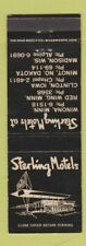 Matchbook Cover - Sterling Motels Red Wing Winona MN Clinton IA Madison WI