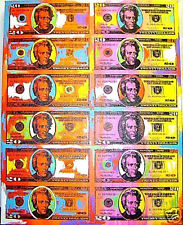 20$ Dollar Bill Sheet John Stango Painting Red
