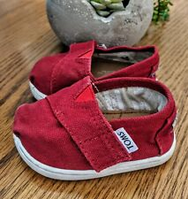 Tiny TOMS Classics Size T3 Red Infant Toddler Baby Boy Girl Canvas Shoes