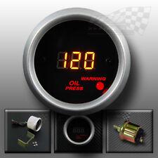 Huile numérique led jauge de Pression 52mm pour tableau de bord voiture