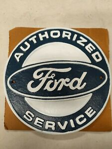 Ford Service Sign Cast Iron Advertising Garage Man Cave Wall Advertising Dealer