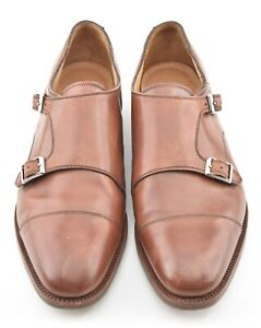 ALFRED SARGENT x JCREW 10.5 UK / 11 US BROWN DOUBLE MONK DRESS SHOES